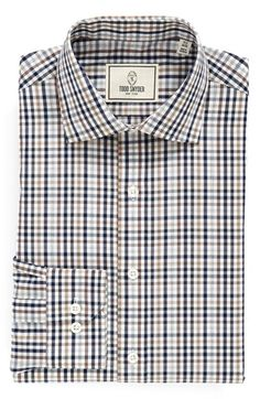 Todd+Snyder+White+Label+Trim+Fit+Plaid+Dress+Shirt+available+at+#Nordstrom