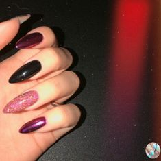 Lovely black and purple nails – ChicLadies.uk – Nails – Many women prefer to attend the … Uk Nails, Matte Nails, Nail Manicure, Black And Purple Nails, Best Acrylic Nails, Nails Tumblr, Nagel Gel, Almond Nails, Perfect Nails