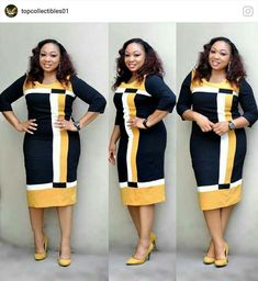 Office Dresses For Women, African Dresses For Women, African Fashion Dresses, African Attire, Dresses For Work, Nigerian Outfits, African Print Skirt, Ankara Dress Styles, Curvy Girl Fashion
