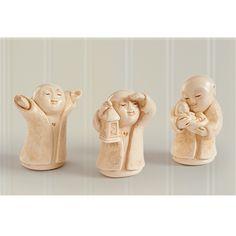 Guiding the Way Jizo Statue Set, Jizo holding a baby