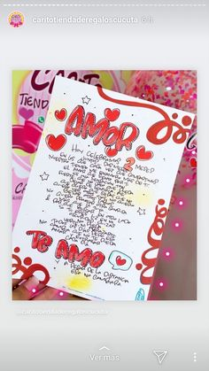 Diy Crafts For Gifts, Crafts To Do, Letter Art, Colorful Drawings, Valentine Crafts, Love Messages, Loving U, Boyfriend Gifts, Gifts For Him