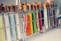 ice cream bar test tube sprinkles