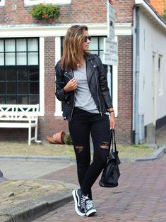 Outfit-vans-sk8-hi-slim-black - a photo on Flickriver