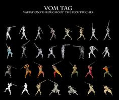 """This is very cool. Although some of those look like zornhut rather than vom tag/lazy tag. maerenundlobebaeren: """" """"Vom Tag"""" - 32 variations throughout the Fechtbücher Hier hat sich Jemand die Mühe..."""