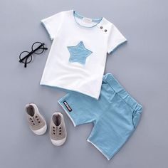 Department Name: Children Item Type: Sets Style: Fashion Sleeve Length(cm): Full Collar: O-Neck Gender: Boys Closure Type: Pullover Fit: Fits true to size, take your normal size Model Number: A075 Material: Cotton Outerwear Type: Shorts Pattern Type: Geometric Sleeve Style: Regular