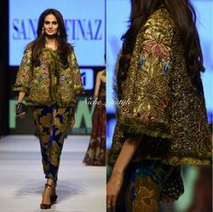 Mehreen Syed wearing Sana Safinaz at FPW 2015