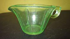 Vintage Uranium Depression Green Glass Tapered Creamer Ribbed | Pottery & Glass, Glass, Glassware | eBay!