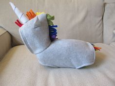 Rainbow Unicorn Hoodie X Small by SproutandSprout on Etsy, $45.00