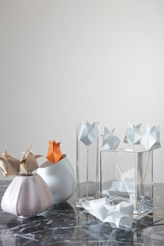Paper Tulips. Learn how to make them here: http://sgbrid.es/GIgT9Y