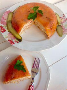 entre carbon y pucheros: Pastel frío de salmón.