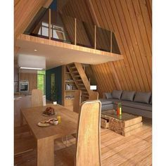 Architecture – Come Hideaway in Lake George, NY Tiny House Cabin, Tiny House Design, Cabin Homes, Log Homes, Tiny Homes, A Frame House Plans, A Frame Cabin, Tiny House Plans, Prefab Home Kits