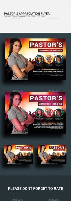 Buy Pastor's Appreciation Flyer by on GraphicRiver. Pastor's Appreciation Flyer This layout is suitable for any project purpose. Very easy to use and customize.