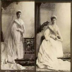 Alexandra Feodorovna in traditional court attire, 1895.