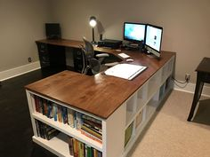 I would live to have this type of space to work on. I'm someone that really likes to spread out when I'm working, and there's a lot of nooks & crannies to pit things. I also like that this shape can separate me from the rest of my office & a place for just me. I had a similar set up in my health classroom  that the students knew they were not allowed in because it was mine.