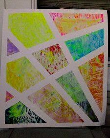 Made with kid-friendly home-made stamps. Check the blog for details.   www.brittanyannhahn.blogspot.com