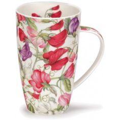 Sweet Peas Henley shape Mug Coffee Cups, Tea Cups, Teapots And Cups, China Painting, Sweet Pea Flowers, Cute Mugs, Personalized Mugs, Mug Cup, Drinking Tea