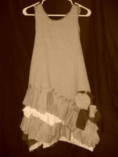 Shabby ruffle tank tunic dress