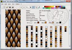 JPo-18-around. A Java program to design beaded crochet ropes