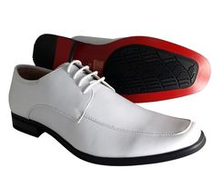 Men's Dress Shoes Majestic White Wedding Prom Oxford Lace up Leather Lining #Majestic #Oxfords