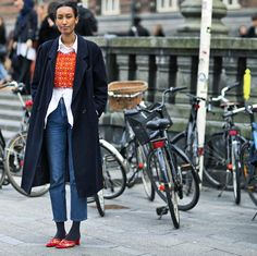 Winter styling in the best shape! that shoe can totally speak for itself but she just preferred to have a best cropped too friend,