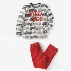 Pijama de terciopelo estampado 2-12 años