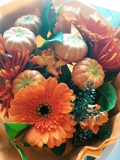 October 29th- Halloween flowers, received today from Claire
