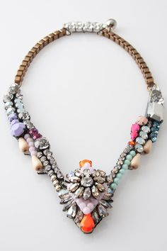 shourouk. beautiful statement jewel necklace