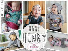 """Ebook Hoodie """"Henry Baby"""" von Gr. 44 bis 104 - Nähanleitungen bei Makerist"""