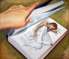 He came home only to find, once again, she was curled up lost in a good book. Art by Thevol (sp?) 2010.