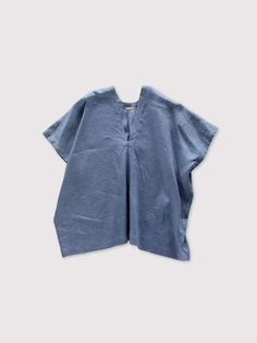 Back long blouse~fade colour linen 1