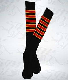 Black or Red Spirit Socks by Soyad Sport Socks with contrasting red and gold, red and black or gold and black stripes. Sport Socks, Novelty Items, Black Stripes, Spirit, Knitting, Red, Fashion, Moda, Tricot