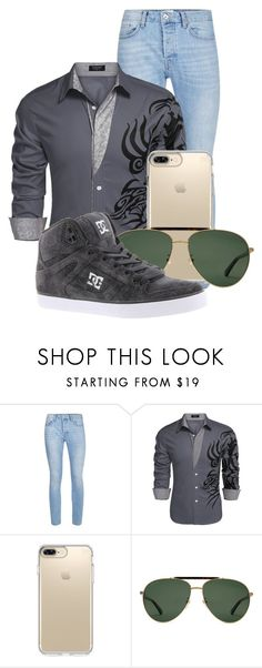 """""""Untitled #1156"""" by dairyqueen55 ❤ liked on Polyvore featuring Topman, Speck, Gucci, DC Shoes, men's fashion and menswear"""