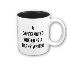 A Caffeinated Writer Is A Happy Writer Mug / Coffee Shop Stuff Writing Humor, Writing Quotes, Fiction Writing, Writing Tips, Writing Corner, Writing Journals, Writing Workshop, A Writer's Life, Writers Write