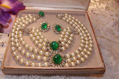 Napier Set Faux Pearls full Parure