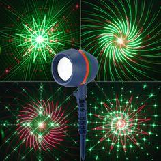 Boże narodzenie Laser Light Star projektor laserowy Wodoodporna Ruchu efekt Światła 8 12 20 Wzory Do Trawników Garden Wall etap Commercial Lighting, Neon Signs, Home Decor, Portion Plate, Speakers, Star Lights, Lawn, Stars, Light Fixtures