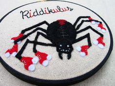 Riddikulus Spell  Embroidery Hoop Art by ThePhantomMoon on Etsy, $38.00