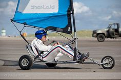 DTM coureurs in blokarts on the beach of  IJmuiden by ProperPictures, via Flickr