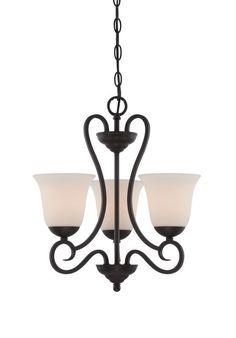 Designers Fountain 85283 Addison 3 Light 1 Tier Mini Chandelier Oil Rubbed Bronze Indoor Lighting Chandeliers