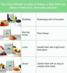 3 day refresh schedule