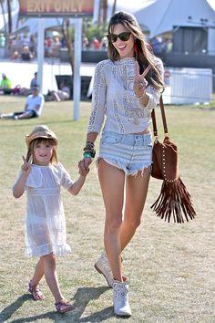 Alessandra Ambrosio and coa-bebe Anja Ambrosio