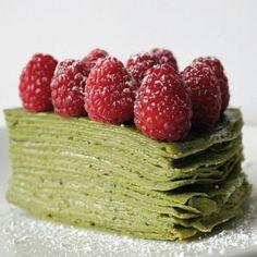 Matcha crepe cake #japaneasy #matcha #healthy