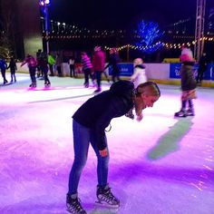 That was my failed attempt at doing a trick for the photo! Haha ⛸