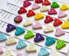 images about Polymer clay buttons I love