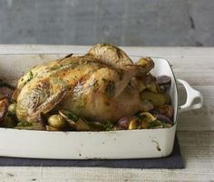 Photo by Ellen Silverman http://www.jamesbeard.org/recipes/roast-chicken-basil-scallion-lemon-butter-and-potatoes