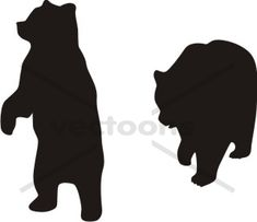 Bear Silhouette Standing Walking - Bear - Animals - Buy Clip Art | Buy Illustrations Vector | Royalty Free