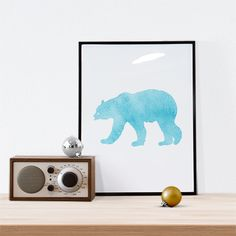 New to WallCandyPrintables on Etsy: Christmas Printable Christmas Art Holiday Printable Holiday Art Winter Art Christmas Bear Art Polar Bear (5.00 USD)