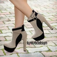Boots are actually fashionable and there is wide option from flat-heels to stilettos, wedges, and platforms, boots are whatever in between. Thick Heel Boots, High Heels Boots, Thick Heels, Pumps Heels, Heeled Boots, Stiletto Heels, Shoe Boots, Heeled Sandals, Fancy Shoes