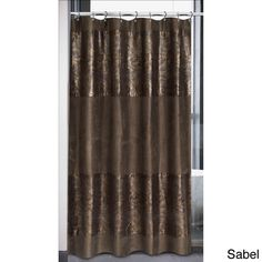 Faux Suede Cobra Design Shower Curtain | Overstock.com Shopping - The Best Deals on Shower Curtains