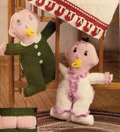 ADORABLE Bare-Bottomed Babies Doll/Toy/ Crochet Pattern Instructions