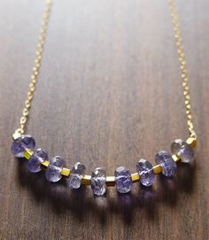 Isis Tanzanite Nugget Necklace by friedasophie on Etsy, $69.00